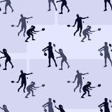 O badminton ostenta o teste padrão Vetor sem emenda ilustração stock