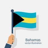 O Bahamas embandeira guardar o homem disponivel Fotografia de Stock Royalty Free