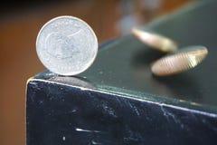 O baht da moeda da moeda Fotografia de Stock Royalty Free