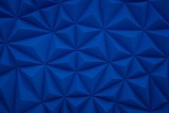 O baixo fundo poli azul abstrato com espaço 3d da cópia rende Fotos de Stock Royalty Free