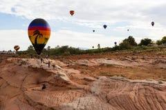 O balão de ar quente photgrphed no Bealton, mostra de ar do circo do vôo do VA Fotos de Stock