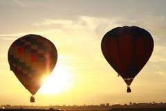 O balão de ar quente photgrphed no Bealton, mostra de ar do circo do vôo do VA Imagem de Stock Royalty Free