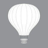 O balão de ar quente photgrphed no Bealton, mostra de ar do circo do vôo do VA Desenhos do contorno para o projeto da cor Fotografia de Stock Royalty Free