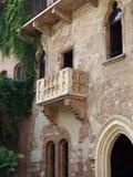 O balcão famoso na casa de Jullieta fotografia de stock