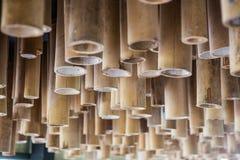 O bambu amarelo é usado para decorar imagem de stock royalty free