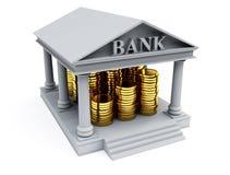 O banco 3d rende Fotos de Stock