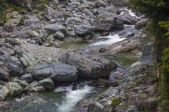 O banco da pedra da montanha Imagem de Stock