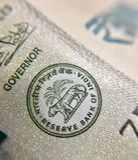 O Banco da Reserva da Índia assina dentro a nota nova de 500 rupias fotos de stock royalty free