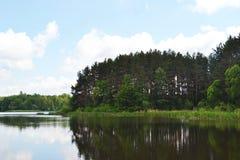 O banco de rio é um dia de verão Fotos de Stock