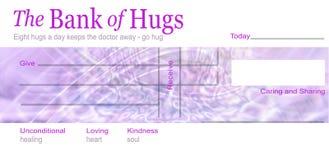 O banco do conceito dos abraços ilustração do vetor