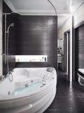 O banheiro moderno do estilo, 3d rende Fotografia de Stock