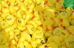 O banho de borracha Ducks o teste padrão Foto de Stock