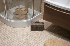 O banho, interior, decora Fotos de Stock