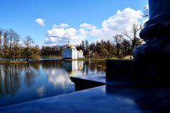 O banho turco no parque de Catherine's em Tsarskoye Selo fotos de stock royalty free