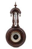 O barômetro de madeira do vintage Imagem de Stock Royalty Free