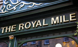 O bar real da milha em Edimburgo Imagem de Stock Royalty Free
