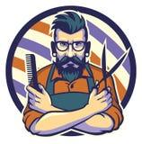 O barbeiro ilustração stock