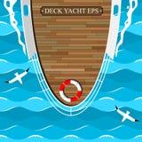 O barco da plataforma no mar azul Fotografia de Stock