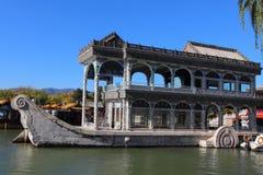 O barco de pedra no palácio de verão Fotografia de Stock Royalty Free