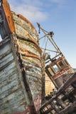 O barco de pesca destrói em Salen na ilha Mull Fotografia de Stock