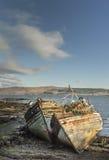 O barco de pesca destrói em Salen na ilha Mull Fotografia de Stock Royalty Free