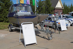 O barco de polícia Imagem de Stock