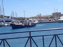 O barco do navio vê o porto do verão Fotografia de Stock Royalty Free