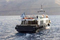 O barco do vapor do turista do passageiro no mar, navio de cruzeiros, Grécia Imagem de Stock Royalty Free