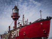 O barco-farol do cuspe de Calshot Imagem de Stock