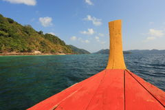 O barco no mar imagens de stock royalty free
