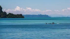 O barco no mar de andaman Imagem de Stock