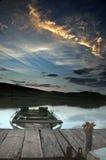 O barco só Fotografia de Stock