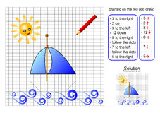 O barco - siga sentidos Ilustração Stock