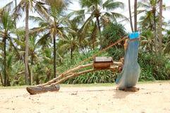 O barco tradicional de Sri Lanka para pescar foto de stock royalty free