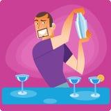 O barman à moda prepara um cocktail Imagens de Stock
