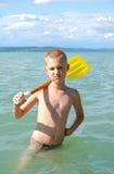 O barqueiro Fotografia de Stock Royalty Free