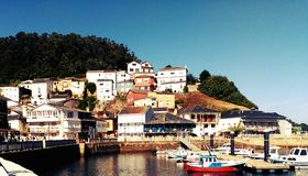 O Barqueiro Wunderbare galizische Stadt stockfotos