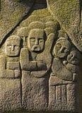 O bas-relevo na pedra Imagens de Stock