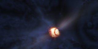 O basebol bateu no espaço Fotografia de Stock Royalty Free