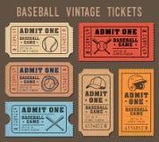 O basebol do vetor convida bilhetes Fotografia de Stock Royalty Free