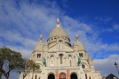 O Basilque Sacre Coeur, Montmartre, Paris, França Fotografia de Stock
