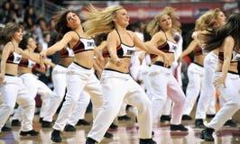 O basquetebol 2013 dos homens do NCAA - líder da claque ou dançarino Fotografia de Stock