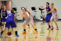 O basquetebol das mulheres do NCAA Fotos de Stock Royalty Free