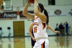 O basquetebol das mulheres do NCAA DIV III da faculdade Imagens de Stock