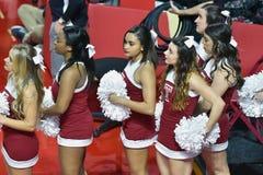 2015 o basquetebol das mulheres do NCAA - templo contra o estado de Delaware Foto de Stock