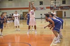 O basquetebol dos homens do NCAA DIV III Fotografia de Stock