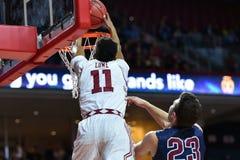 2015 o basquetebol dos homens do NCAA - FDU no templo Imagens de Stock