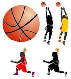 O basquetebol livra o estilo Fotografia de Stock Royalty Free