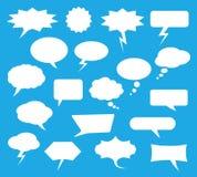 O bate-papo branco borbulha para uma comunicação em linha, grupo do vetor Fotos de Stock Royalty Free