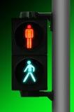 O batente da luz do pedestre e vai Imagem de Stock Royalty Free